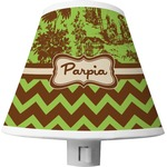 Green & Brown Toile & Chevron Shade Night Light (Personalized)