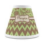 Green & Brown Toile & Chevron Chandelier Lamp Shade (Personalized)