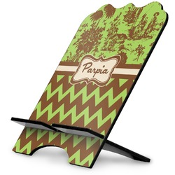 Green & Brown Toile & Chevron Stylized Tablet Stand (Personalized)