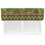 Green & Brown Toile & Chevron Valance (Personalized)