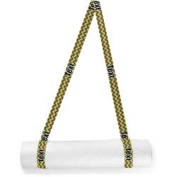 Green & Brown Toile & Chevron Yoga Mat Strap (Personalized)