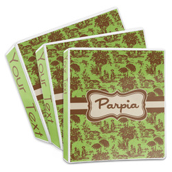 Green & Brown Toile 3-Ring Binder (Personalized)