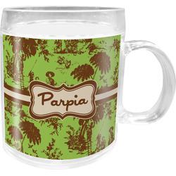 Green & Brown Toile Acrylic Kids Mug (Personalized)