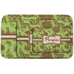 Green & Brown Toile Area Rug (Personalized)