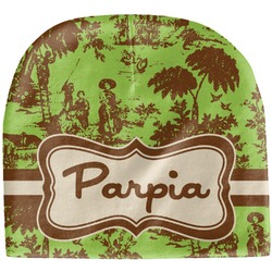 Green & Brown Toile Baby Hat (Beanie) (Personalized)