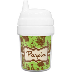 Green & Brown Toile Baby Sippy Cup (Personalized)