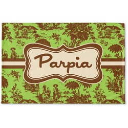 Green & Brown Toile Woven Mat (Personalized)