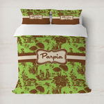 Green & Brown Toile Duvet Covers (Personalized)