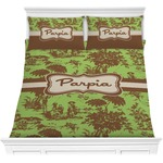 Green & Brown Toile Comforters (Personalized)
