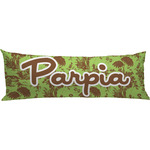 Green & Brown Toile Body Pillow Case (Personalized)