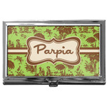 Green & Brown Toile Business Card Case