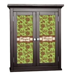 Green & Brown Toile Cabinet Decal - Custom Size (Personalized)