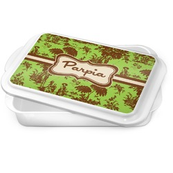 Green & Brown Toile Cake Pan (Personalized)