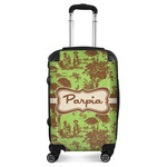Green & Brown Toile Suitcase (Personalized)
