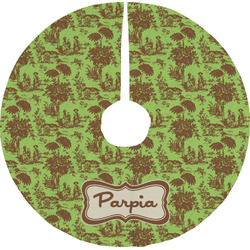 Green & Brown Toile Tree Skirt (Personalized)
