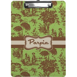 Green & Brown Toile Clipboard (Personalized)