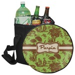 Green & Brown Toile Collapsible Cooler & Seat (Personalized)
