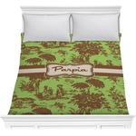 Green & Brown Toile Comforter (Personalized)