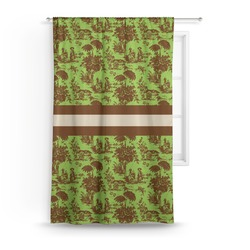 Green & Brown Toile Curtain (Personalized)