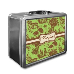 Green & Brown Toile Lunch Box (Personalized)