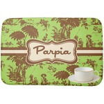 Green & Brown Toile Dish Drying Mat (Personalized)