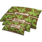 Green & Brown Toile Dog Bed w/ Name or Text