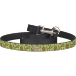Green & Brown Toile Dog Leash (Personalized)