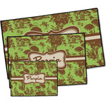 Green & Brown Toile Door Mat (Personalized)