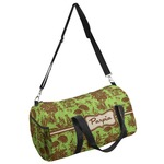 Green & Brown Toile Duffel Bag (Personalized)