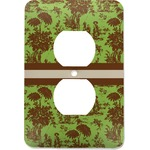 Green & Brown Toile Electric Outlet Plate (Personalized)