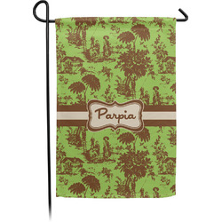 Green & Brown Toile Garden Flag - Single or Double Sided (Personalized)