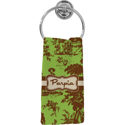 Green & Brown Toile Hand Towel - Full Print (Personalized)