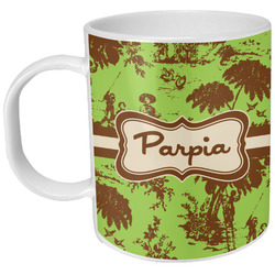 Green & Brown Toile Plastic Kids Mug (Personalized)