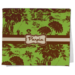 Green & Brown Toile Kitchen Towel - Full Print (Personalized)