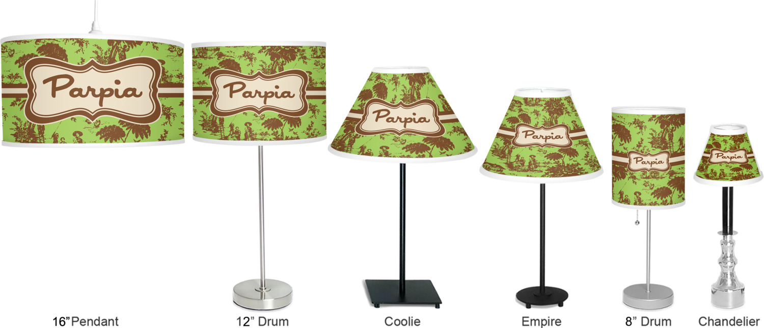 green brown toile drum lamp shade polyester. Black Bedroom Furniture Sets. Home Design Ideas