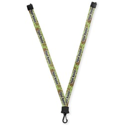 Green & Brown Toile Lanyard (Personalized)