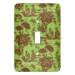 Green & Brown Toile Light Switch Cover (Single Toggle) (Personalized)