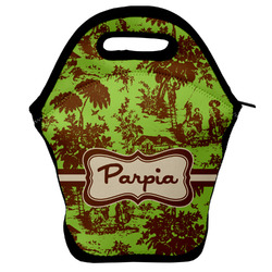 Green & Brown Toile Lunch Bag (Personalized)