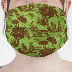 Green & Brown Toile Face Mask Cover (Personalized)