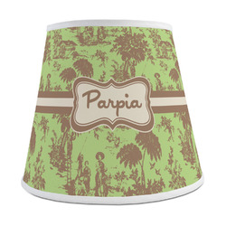 Green & Brown Toile Empire Lamp Shade (Personalized)