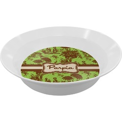 Green & Brown Toile Melamine Bowls (Personalized)
