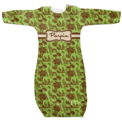 Green & Brown Toile Newborn Gown (Personalized)