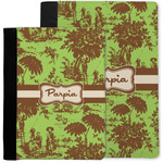 Green & Brown Toile Notebook Padfolio w/ Name or Text