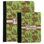 Green & Brown Toile Padfolio Clipboard (Personalized)