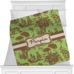 Green & Brown Toile Minky Blanket (Personalized)