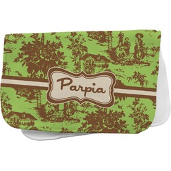 Green & Brown Toile Burp Cloth (Personalized)