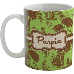Green & Brown Toile Coffee Mug (Personalized)