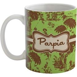 Green & Brown Toile Coffee Mug (Personalized)