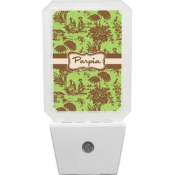 Green & Brown Toile Night Light (Personalized)