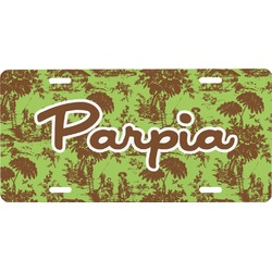 Green & Brown Toile Front License Plate (Personalized)